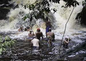The Group Swiming at Marshall Falls, Guyan