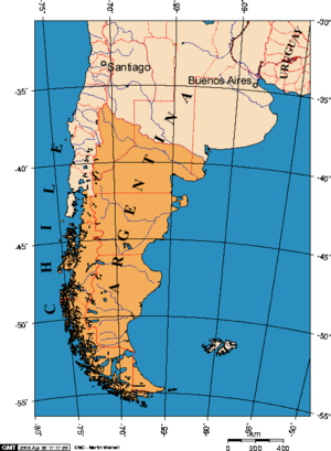 A Map of Patagonia - (source, Wikipedia)