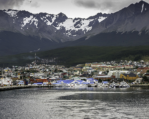 Ushauaia, Argentina - As seen from the deck of our boat departing the harbor