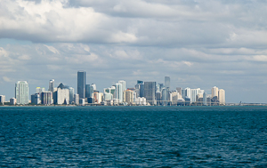 Miami, from Biscayne Bay.