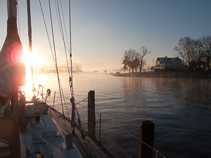 Winter Sunrise, Solomons, Maryland