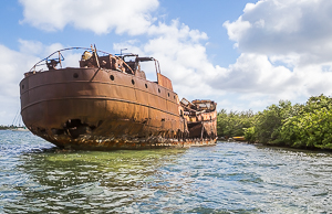 Abandoned Freighter, Saint Martin