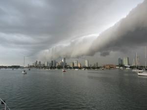 Line squall over Miami