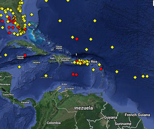 Weather buoys for the Caribbean Sea